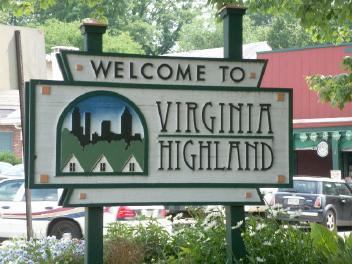 Virginia Highland Sign