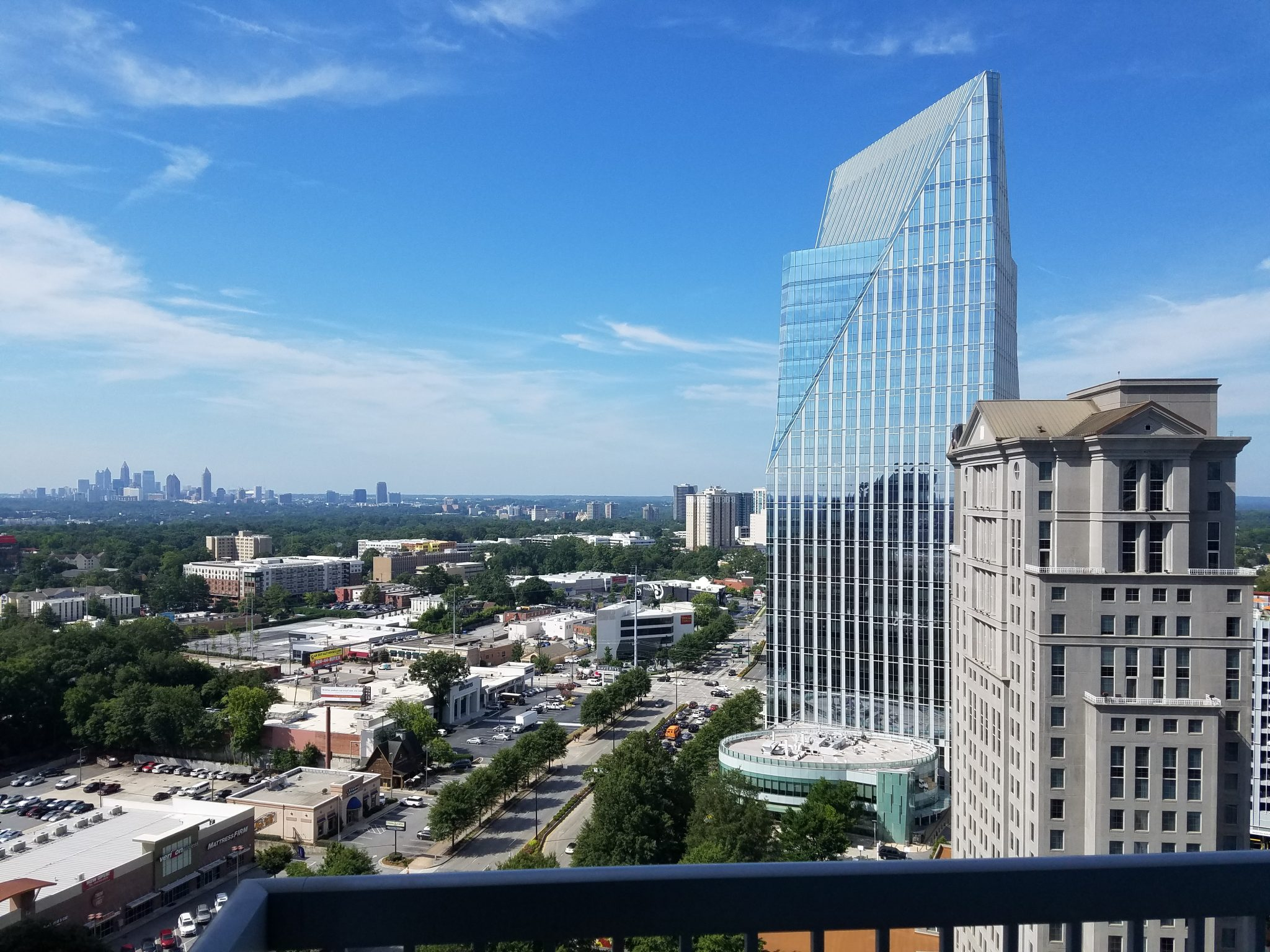View of Downtown Atlanta from 21st floor The Realm Condominiums in Buckhead Atlanta by Shawn Penoyer - Keller Williams