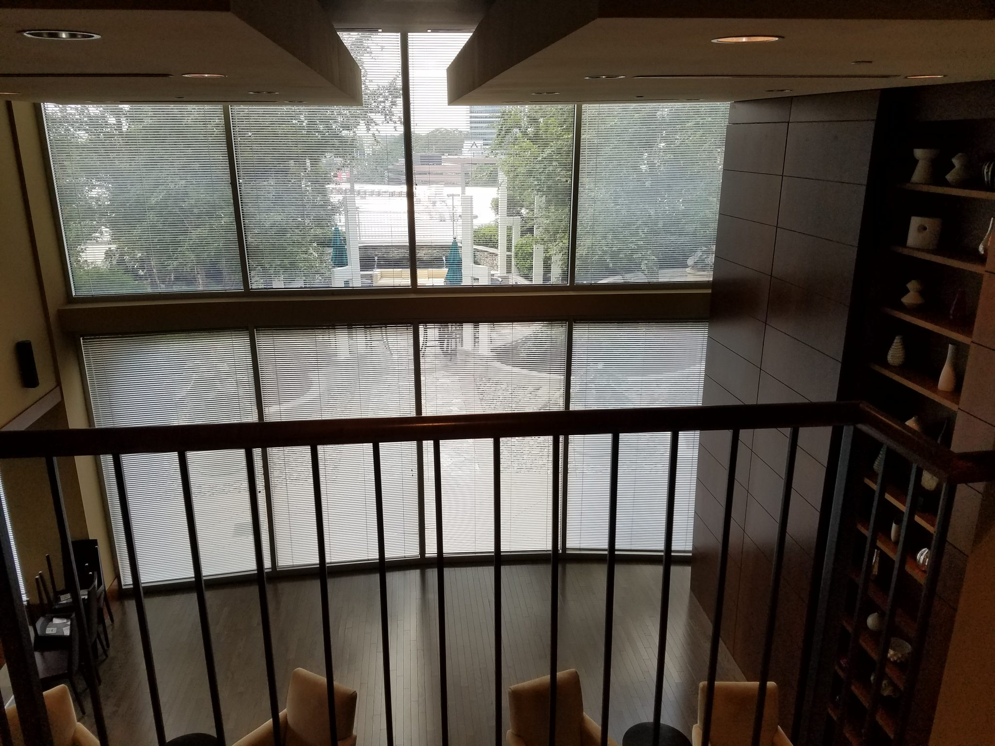 The Realm in Buckhead view of common area from balcony