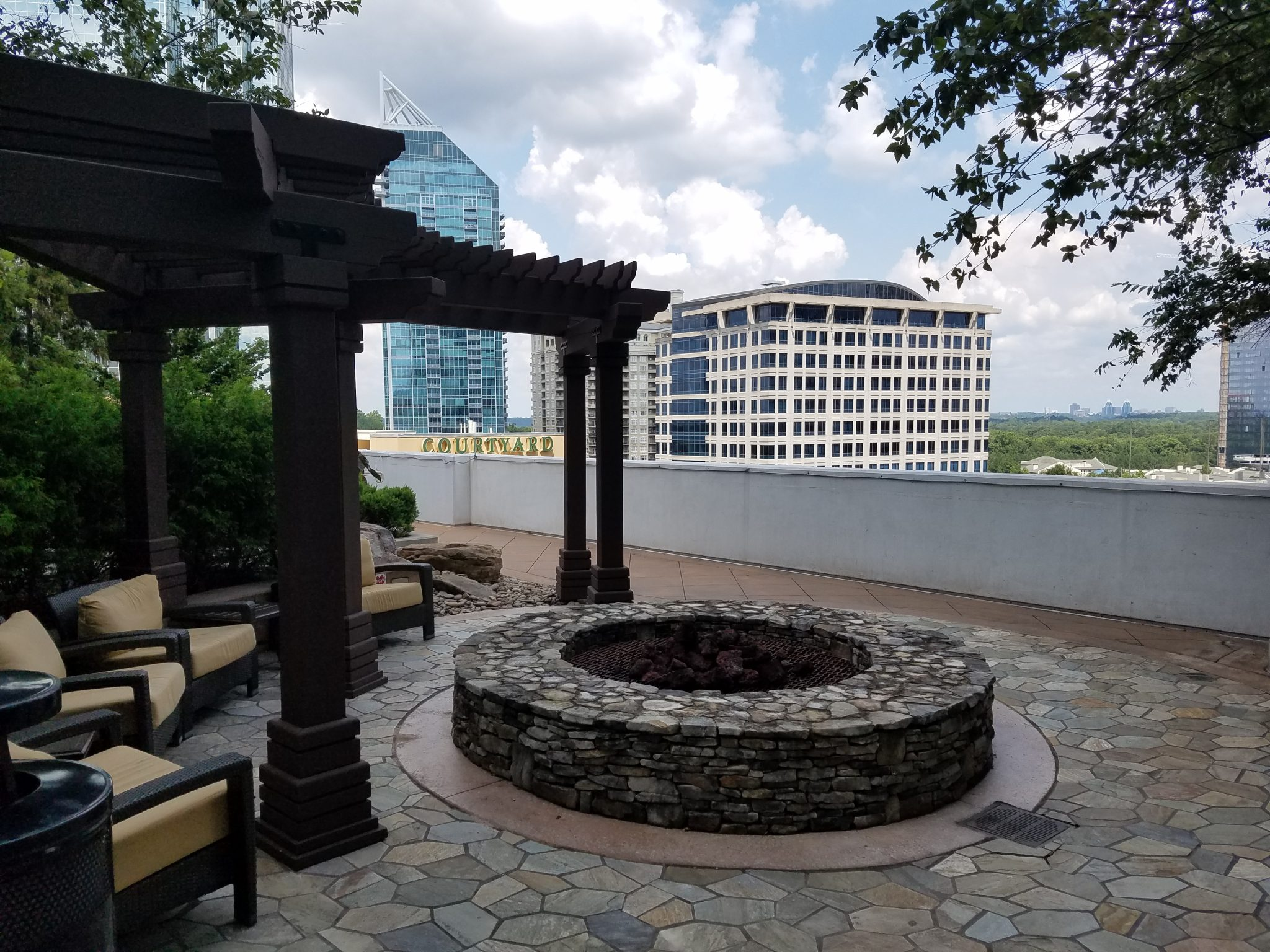 The Realm in Buckhead firepit and sitting area
