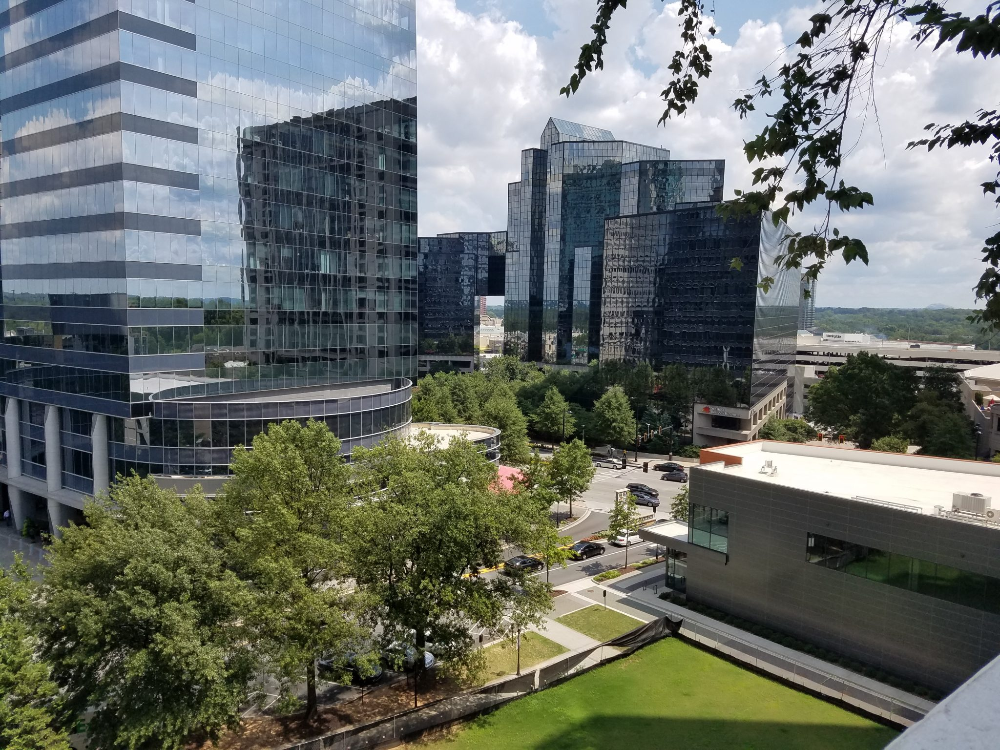 The Realm in Buckhead view from 4th floor towards Lenox Mall