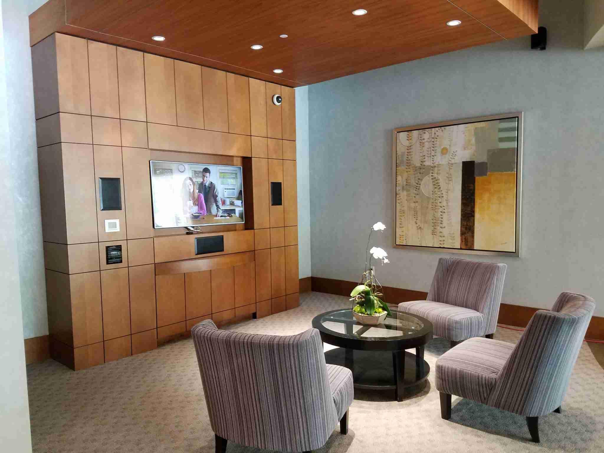 Sitting area inside the lobby of The Realm in Buckhead Atlanta