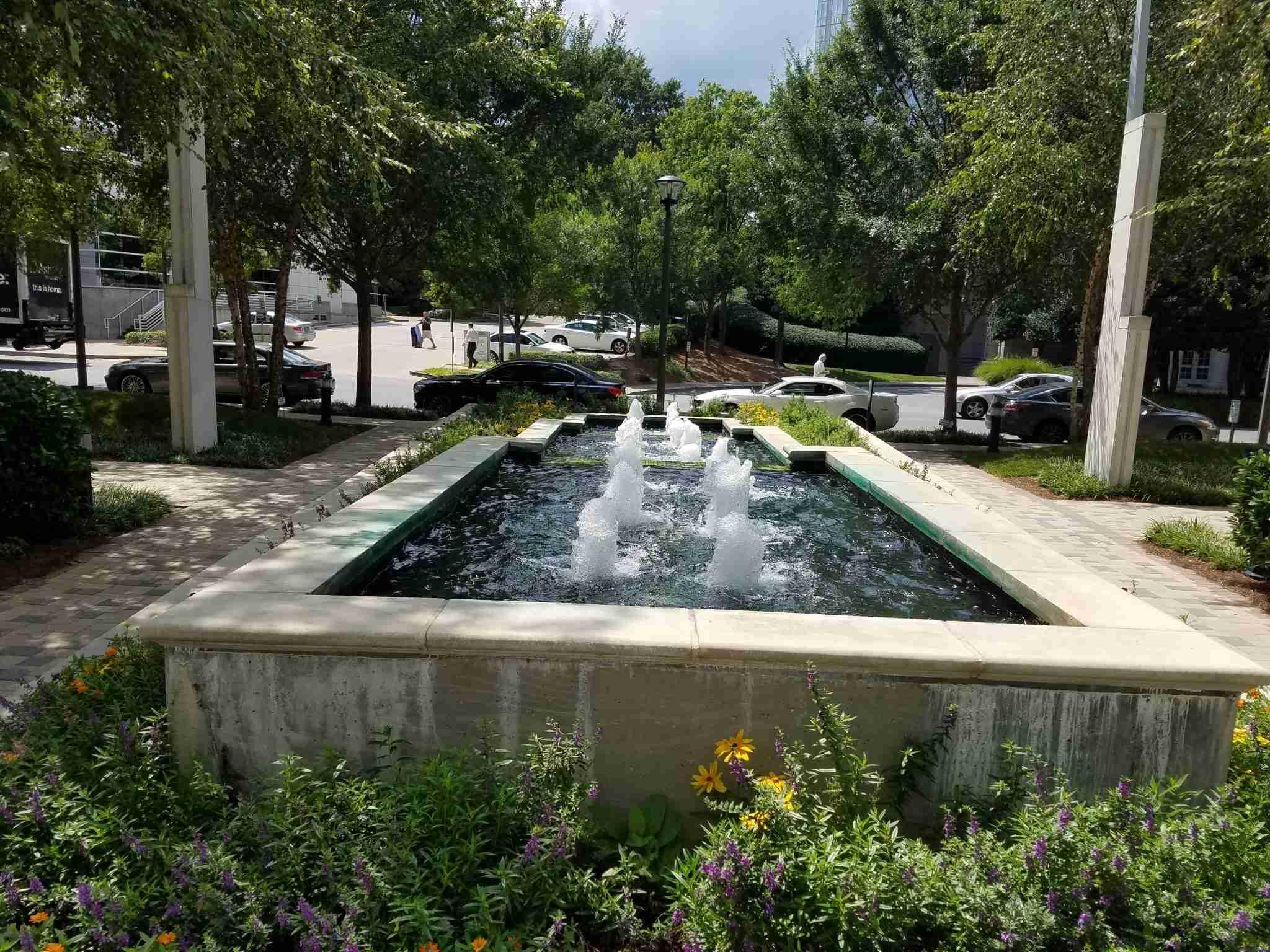 fountain view The Realm in Buckhead